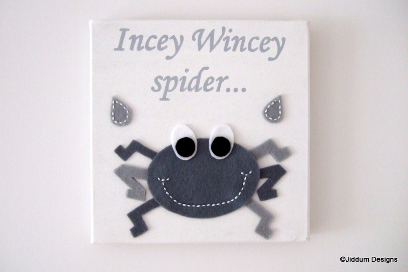 'Incey Wincey' Nursery Rhyme Canvas Decoration