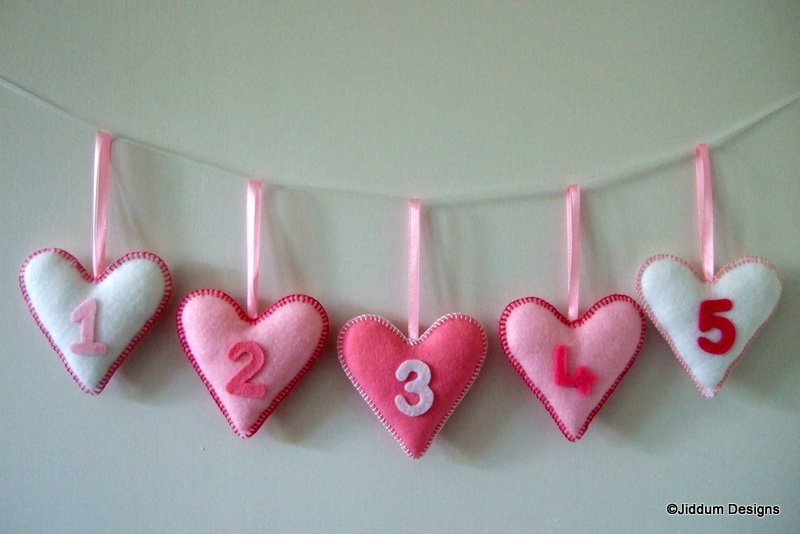 Pink Heart Nursery Decorations