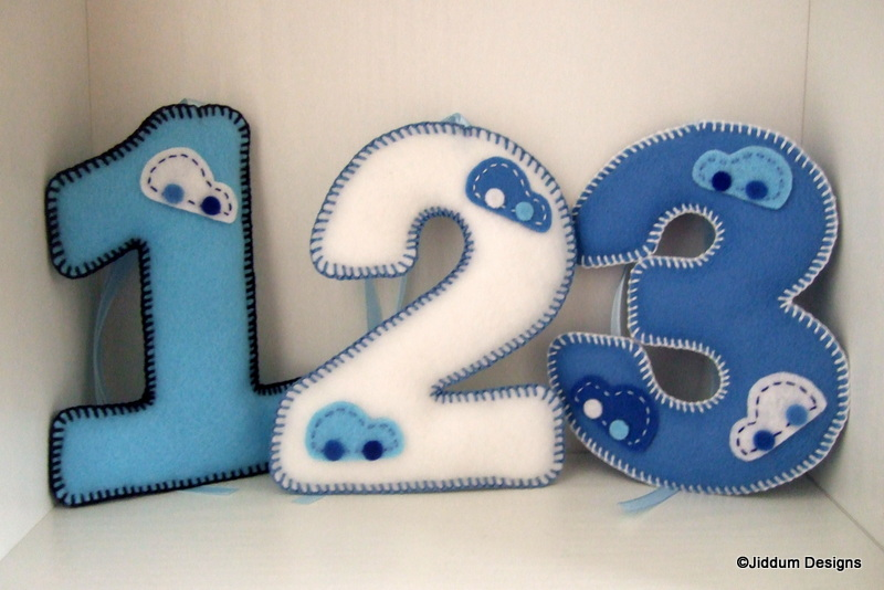 Bubble Car Felt Number Decorations